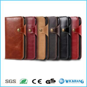 Genuine Leather Wallet Flip Case for Apple iPhone 7 / 7 Plus pictures & photos