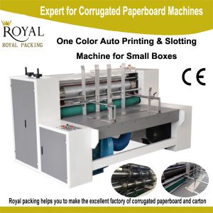 Single Color Printing Machine with Slotting Printer for Small Carton pictures & photos