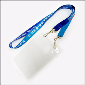 Customized Logo Plastic Name/ID Card Badge Reel Holder Custom Lanyard (NLC001) pictures & photos