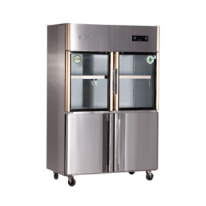 Hot Sale Double Temperature Direct Cooling Kitchen Refrigerator pictures & photos