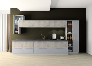 Modern Design Metal Printing UV Lacquer Whole Set Kitchen Cabinets pictures & photos
