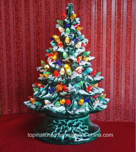 Bulb Lights up Painting Ceramic Christmas Tree Light pictures & photos