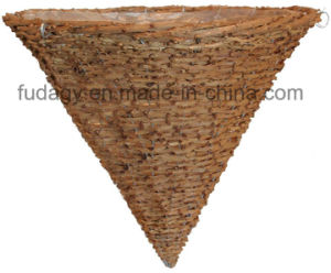 Natural Rattan Willow Cone Planter, 14 by 15-Inch pictures & photos