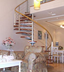 Home Building Indoor Spiral Staircase pictures & photos