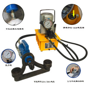 Electric Hydraulic Rebar Bender and Straightener Be-Br-25W pictures & photos