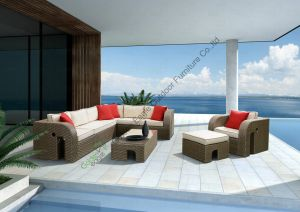 Newest Design Rattan Sofa Set Like Elephant