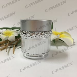 New Arrival 30g 50g Luxury Silver Acrylic Cream Jar for Cosmetic Packaging (PPC-ACJ-123) pictures & photos