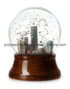 Souvenir Snow Globe with Wooden Color Base pictures & photos