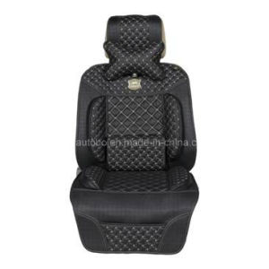 Leatherette Car Seat Cushion Flat Shape Cushion with Shoulder Pad