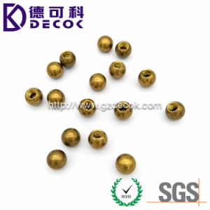 High Quality Factory Price Solid Copper Zinc Alloy H62 Brass Ball 15mm M5 Threaded pictures & photos