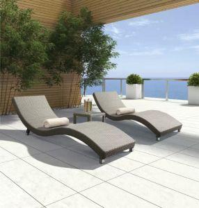 Leisure Patio Wave Shape Bench Sun Lounge