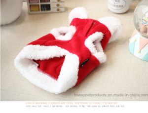 Gingerbread Man Christmas Red Warm Croal Fleece Dog Coat pictures & photos