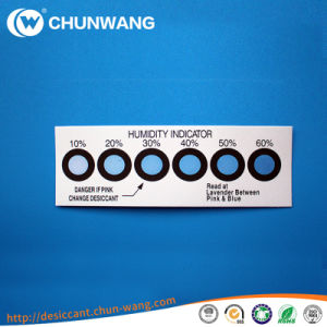Vacuum Packing Cobalt Free Humidity Indicator Card Sheet 10%-60%