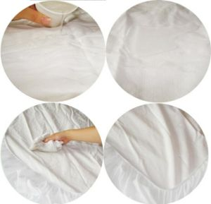 Hotel or Hospital Non-Weaved Waterproof Breathable Cheap Price Mattress Protector pictures & photos
