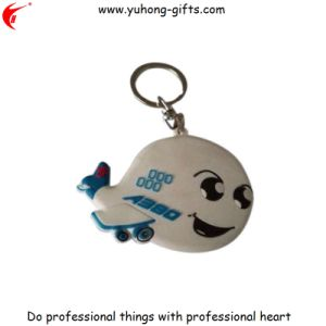 Custom Wholesale Rubber Promotional Keyring (YH-KC159) pictures & photos