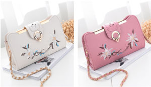 Fashion Style Embroidered Crossbody Bag PU Women Clutch Bag