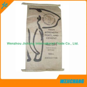 High Quality Custom Printed Kraft Paper Cement Packaging Bags pictures & photos