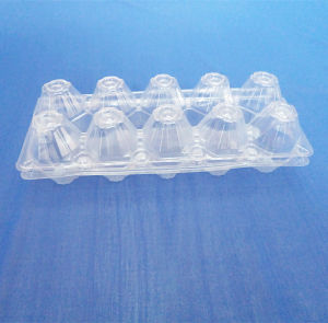 10 Cells PVC Blister Packing Box for Eggs Clear Blister Tray for Eggs pictures & photos