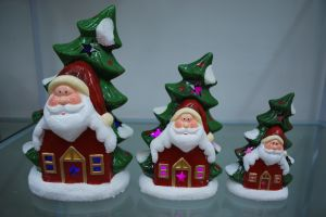 Resin Xmas Tree Shape Candlestick Candle Holder for Home pictures & photos