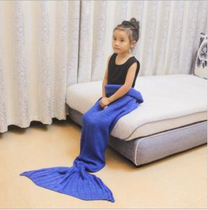 Popular Knitting Design Infant Mermaid Tail Fleece Blanket pictures & photos