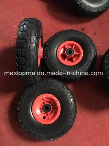 Maxtop Rubber Flat Free PU Foam Wheel pictures & photos