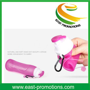 500m; BPA Free Silicone Plastic Foldable Water Bottle pictures & photos