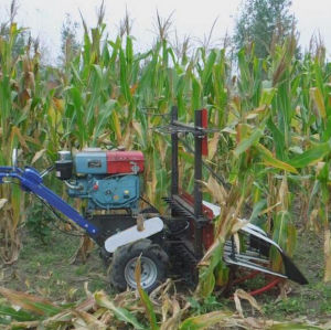 Walk-Behind Tractor Mounted Mini Corn Harvester pictures & photos