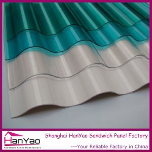 Shanghai Supplier Wave Style Translucent PVC Roof Tile pictures & photos