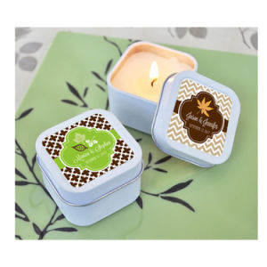 Square Mini Metal Scented Candle Tin Containers pictures & photos