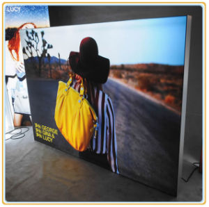 Fashionable Silicon Edged Fabric Light Box pictures & photos