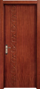 Popular Decorative Timber Wood Entry Door for Home pictures & photos