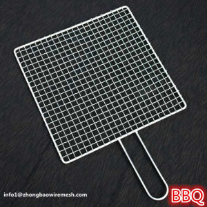 Portable Stainless Steel BBQ Barbecue Grilling Basket Mesh with Metal Handle pictures & photos