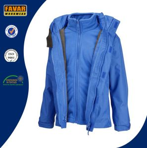 3-in-1 Waterproof Shell with Removeable Warm Fleece Inside Jacket pictures & photos