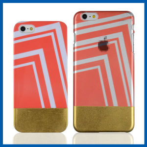Clear Edging Gold Hard Back Case for iPhone 6 Plus pictures & photos
