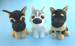 Stuffed Plush Dog Toy 3 Asst. with Husky pictures & photos