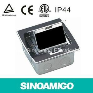 Stainless Steel Pop up Type IP 44 Waterproof Floor Outlet Box with 10A Universal Sockets pictures & photos