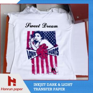 A3, A4 Sheet and Roll Inkjet PU Heat Transfer Paper for Cotton T-Shirt pictures & photos