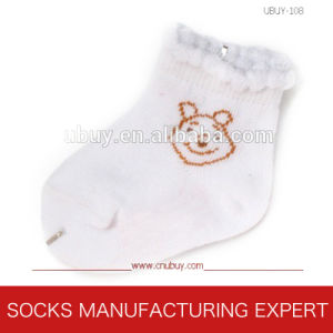 Baby′s Pure Cotton of Lace Socks (UBUY-108) pictures & photos