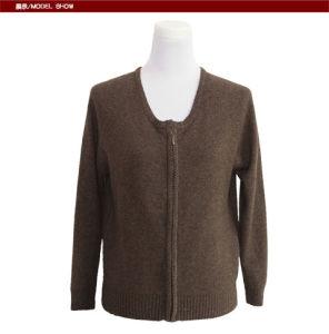Gn1616 Yak Merino Wool Long Sleeve U Nack Cardigan Ladis′ Spring and Autumn Sweater pictures & photos