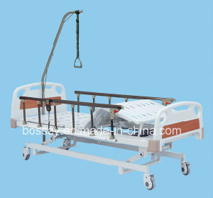 Luxurious Ultra Low Three Function Electric Hospital Bed pictures & photos