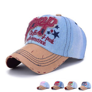 100% Washed Cotton Denim Fashion Baseball Caps (YKY3080) pictures & photos