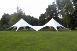 Wholesale Steel Frame PU Coated Polyester Double Star Tent for Event pictures & photos