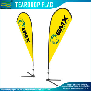 Flying Promotional Banner Teardrop Feather Beach Flag (L-NF04F06089) pictures & photos