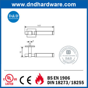 Furniture Hardware Door Square Solid Handle with Ce Certification pictures & photos