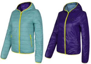 Women′s Double Sides Wearing Windproof Primaloft Insulation Jacket pictures & photos