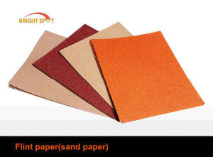 Flint Abrasive Sanding Paper pictures & photos
