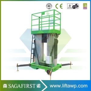 Portable Semi Electric Aerial Work Platform Max Height 14m Vertical Lift Platform for Maintenance pictures & photos