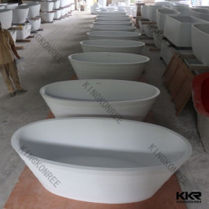 Wholesale Acrylic Solid Surface Soaking Hot Bathtub pictures & photos