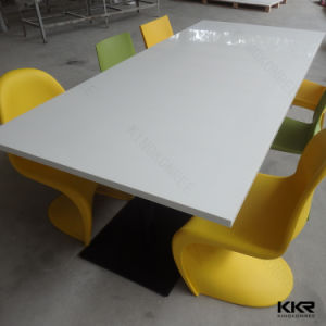 Modern Solid Surface Restaurant Furniture Dining Table (T1704122) pictures & photos