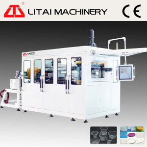 High Precision Automatic Plastic Water Cup Bowl Thermoforming Stacking Machine pictures & photos